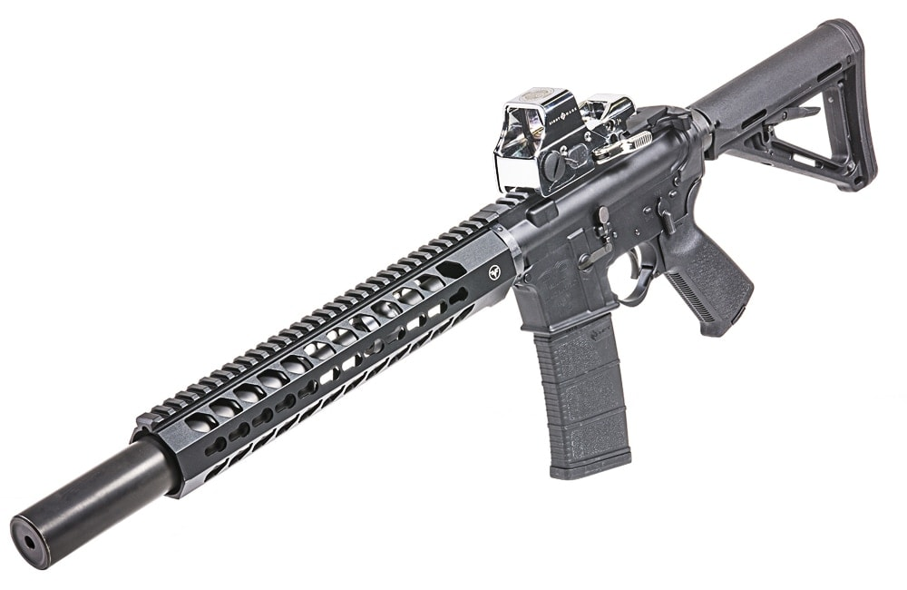 The 10th Anniversary Ultra Shot Plus by Sightmark mounted on a rifle. (Photo: Sightmark)