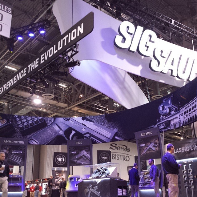 The Sig Sauer booth during SHOT Show 2015 in Las Vegas. (Photo: Sig/Instagram)