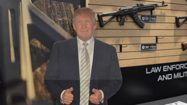 Century Arms, an importer of a number of guns from overseas, featured a Trump standee at its SHOT Show booth last week. (Photos: Chris Eger/Guns.com)