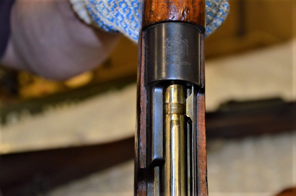 A Yugo Model 1924 Mauser short action. These were common in Bosnia and Kosovo