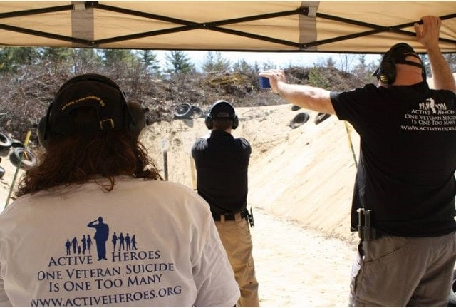 Active Heroes supporters take part in an Aiming for Zero shooting match. (Photo: Active Heroes)