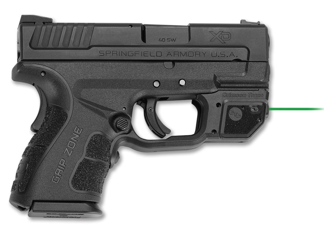 Springfield Armory's XD Mod.2 with green Laserguard installed. (Photo: Crimson Trace)