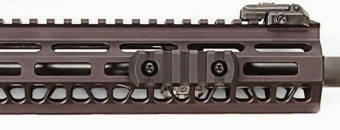 M-LOK boasts squared slots that allow compatible accessories to mount directly to the hand guard. (Photo: Magpul)