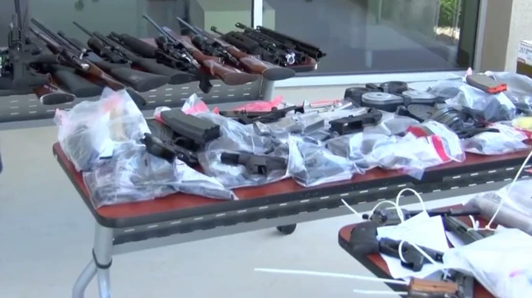 120 firearms were seized during a takedown of Sureño gang members in Merced County, California.