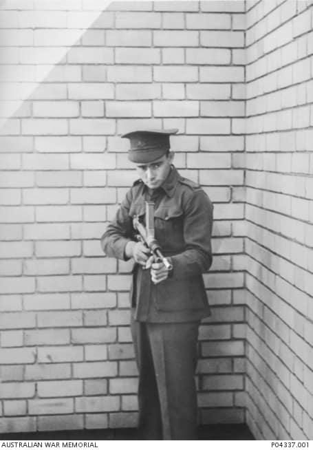 Owen with his gun