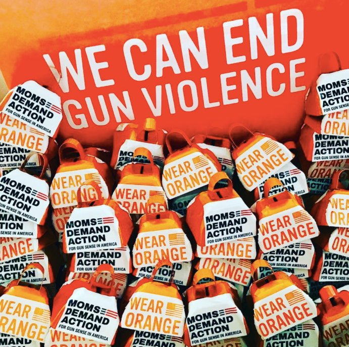 National Gun Violence Awareness Day and the Wear Orange campaign originated with Chicago high school students to mark a classmate's death in 2013 and has been given a signal boost by Everytown in recent years. (Photo: Everytown)