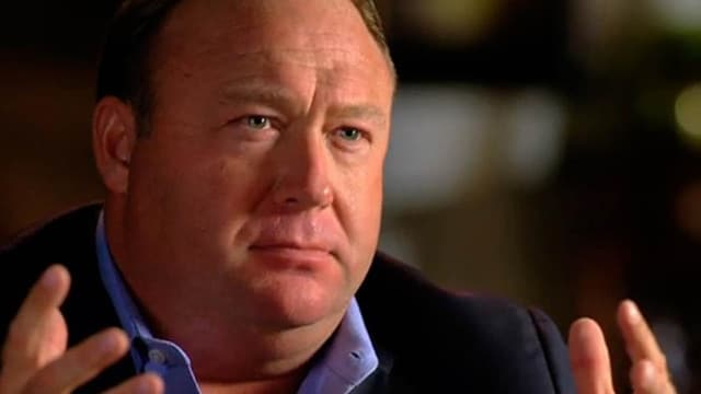 Alex Jones during his interview with Megyn Kelly, which aired on NBC on Sunday. (Photo: NBC News)