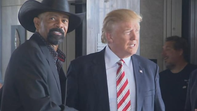 Sheriff Clarke, left, meeting with President Trump.