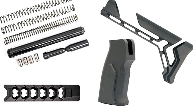 Cobalt Kinetics offers a swath of new goodies for consumers looking to amp up their rifle builds. (Graphic: Jacki Billings)