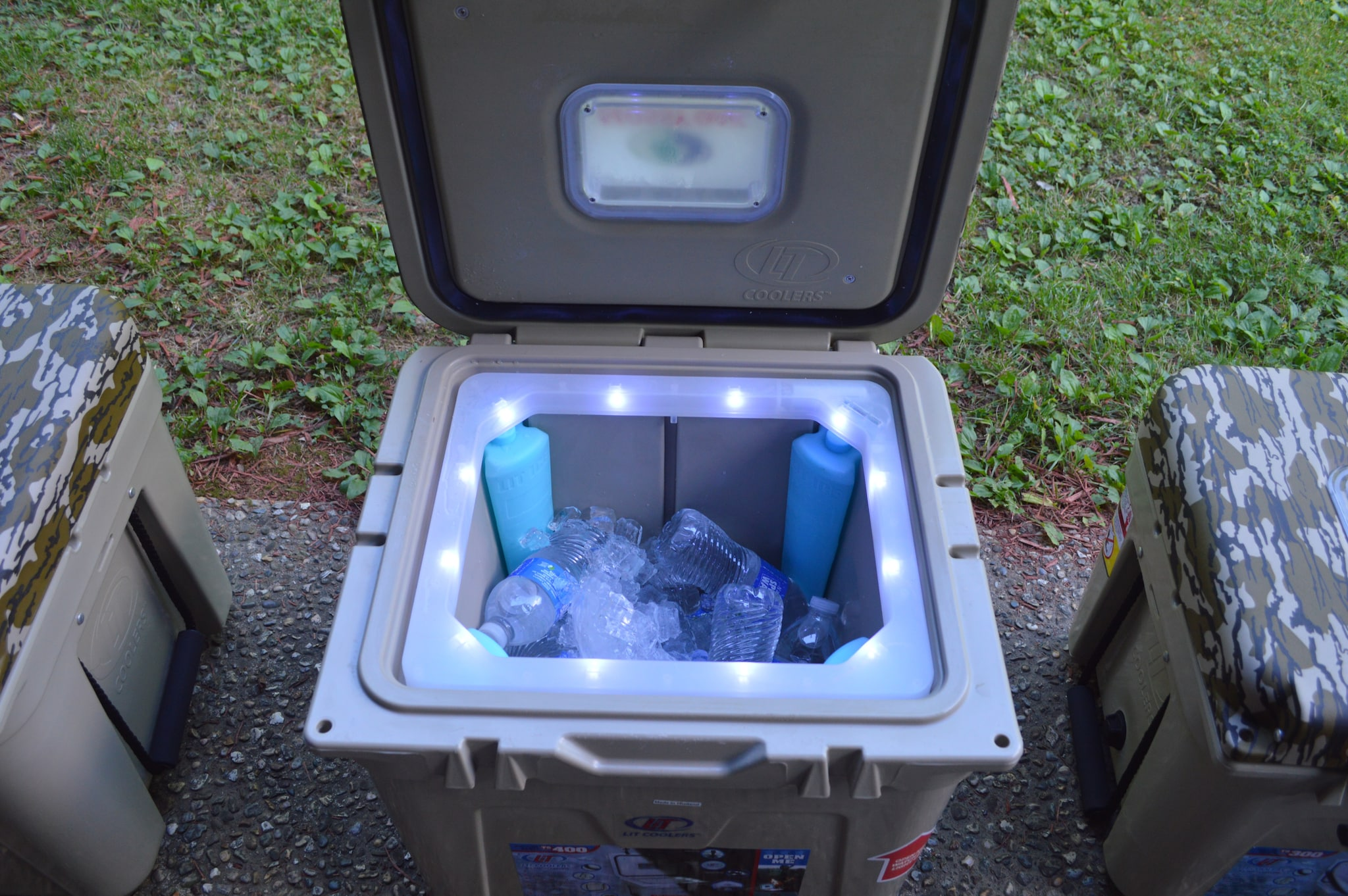 """You didn't' even know you wanted a lighted cooler. Heck, you may have been like me and not even knew they existed. Lit Coolers has smashed onto the market with some great patented features including the """"ice legs"""" that sit at the corners and are able to keep the cooler chilled even without ice. And of course, there's the namesake feature--the lighted strip for those dark dawns and evenings. (Photo: Kristin Alberts)"""