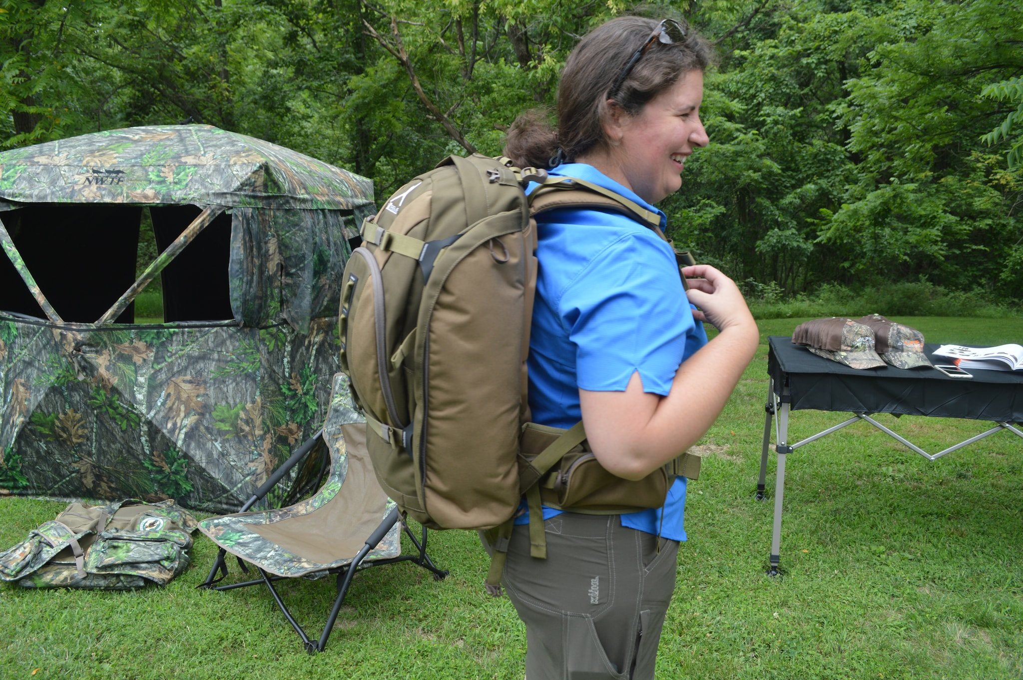 The new Monarch X women's meat pack is the first of its kind we've seen on the market. The fit and comfort is spot on, and we can't wait to get this one out in the field this Fall. (Photo: Kristin Alberts)