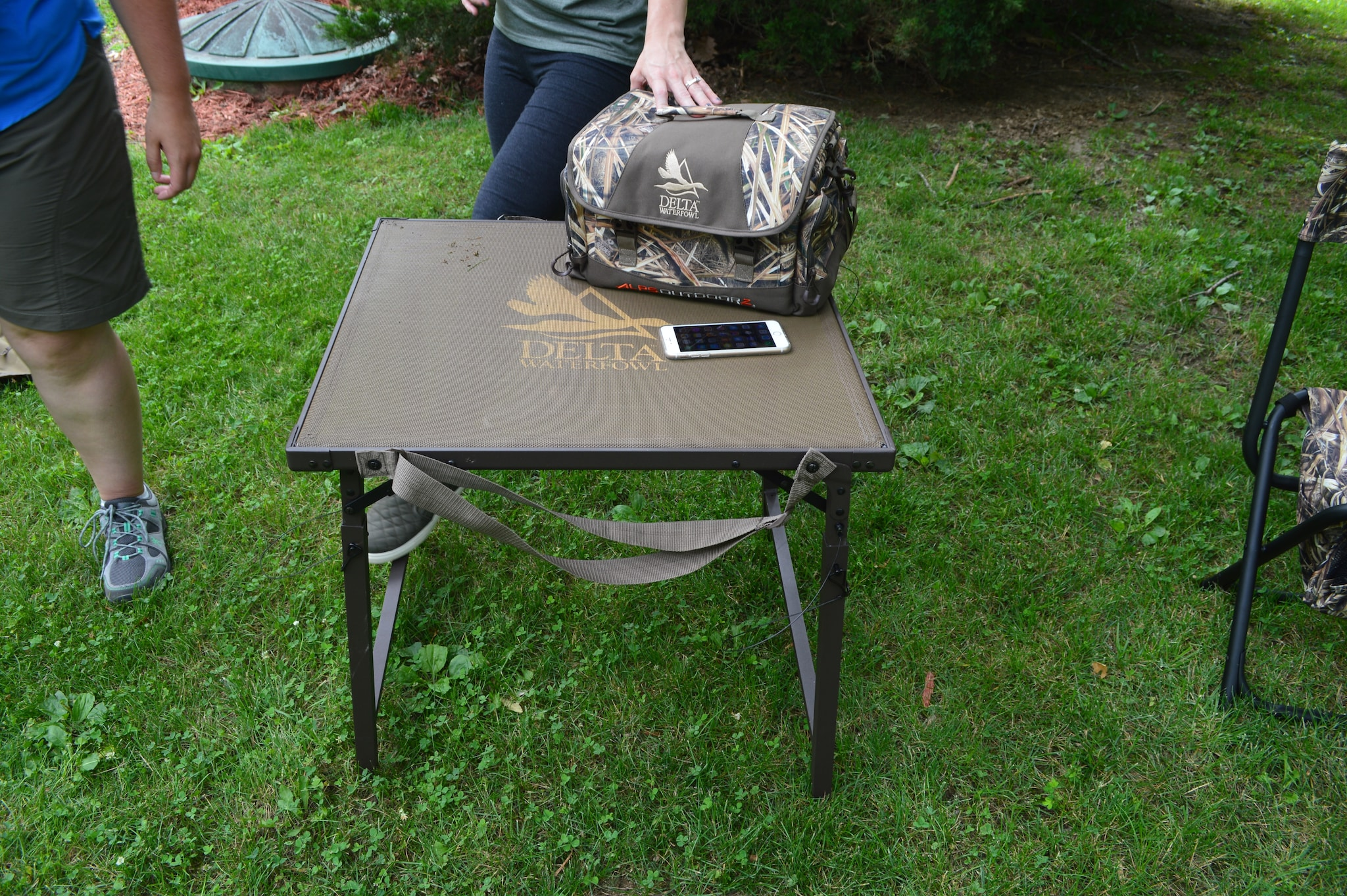 Delta Waterfowl is one of Alps brands, and they make gear for the serious goose and duck hunters. Shown here is their new Dog Stand. Its solid yet portable build is designed to keep your furry hunting companion out of the cold water and muck. The height is fully adjustable and the entire unit packs flat and is easy to carry with the integral shoulder strap. (Photo: Kristin Alberts)