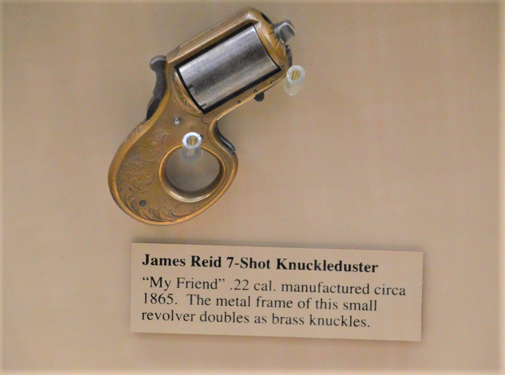 "You often don't get a chance to see one of James Reid's ""My Friend"" https://www.guns.com/news/2013/04/04/say-hell-to-my-little-friend-the-knuckleduster-ring-gun-of-the-catskills/ knuckledusters in the wild. Each one of these was handmade in his shop in New York, down to the screws."