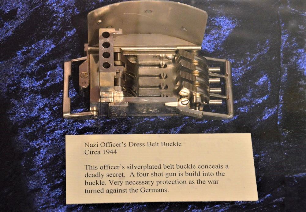 A German belt buckle gun, similar to the one up for auction at RIA this month https://www.rockislandauction.com/detail/1029/2564/louis-marquis-nazi-buckle-gun-four-shot-style#detail
