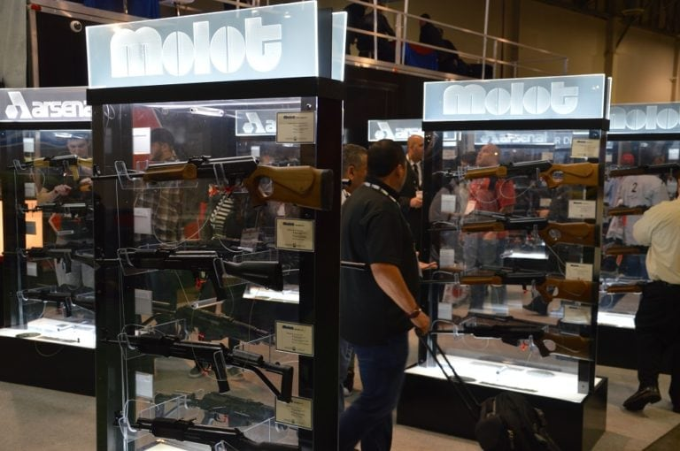 The Russian firm of Molot-Oruzhie, who export their popular line of VEPR rifles to the U.S., is now the subject of official sanctions. (Photo: Chris Eger/Guns.com)
