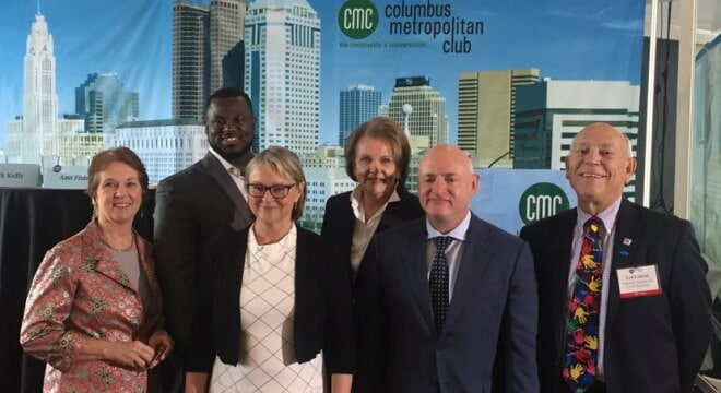 Capt. Mark Kelly was on hand at the Columbus Metropolitan Club on Wednesday with the avowed purpose to bring Ohio community leaders together to address gun violence in the state. (Photo: Americans for Responsible Solutions)