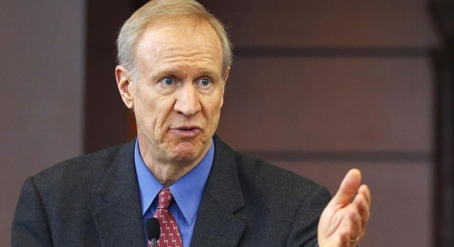 In this March 20, 2015 file photo, Illinois Gov. Bruce Rauner speaks at a news conference in Chicago. (Photo: Charles Rex Arbogast/AP)
