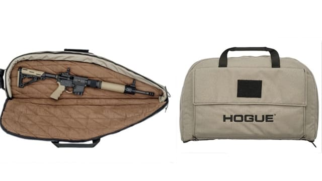 Hogue now offers flat dark earth as a color option for pistol and rifle bags. (Photo: Hogue)