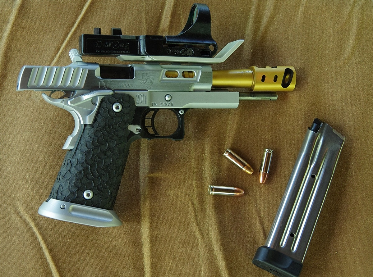 The DVC Steel 2011 pairs with 9mm or .38 Super rounds. (Photo: Howard Communications)