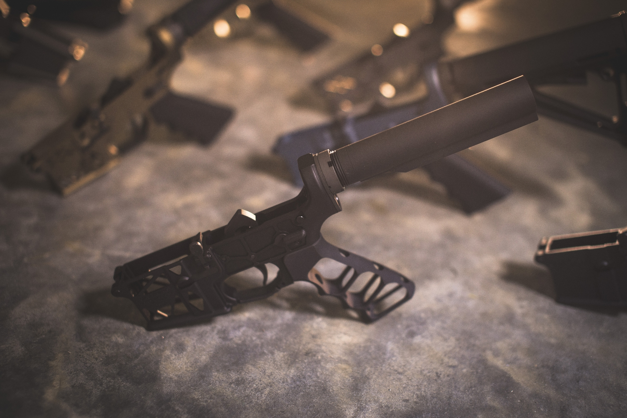 Ghost Firearms' skeletonized lower serving up a skeletonized grip. (Photo: Ghost Firearms)