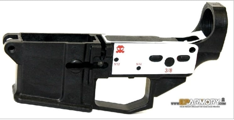 The EP80-2 lower with decal. (Photo: EP Armory)