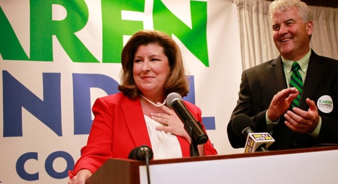 Former Georgia Secretary of State Karen Handel defeated her Democrat opponent, one-time national security aide Jon Ossoff. (Photo: Kaitlin Kolarik/WABE)