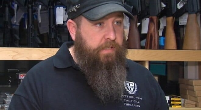 Erik Lowry plead guilty to selling guns through his shop, Pittsburgh Tactical Firearms, without the proper paperwork and illegal possession of a destructive device (Photo: KRMG)