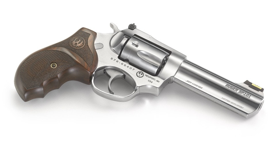 Meant to ring plates or punch paper, the Match Champion features a 4.2-inch full-lug barrel with an 11-degree target crown. (Photo: Ruger)
