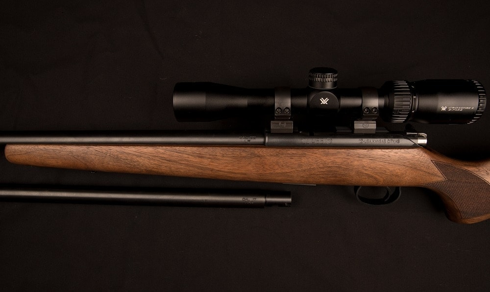 As European manufacturers typically serialize both the barrel and the receiver, both the package's barrels have numbers that match the rifle itself.
