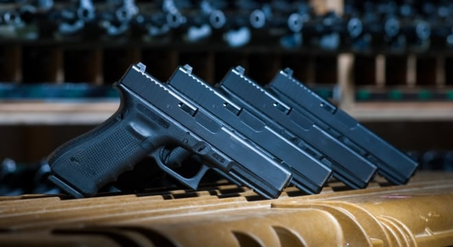 Glocks have been adopted as military sidearms by Austria, Great Britain and others, but a recent U.S. Army contract saw the pistol beat out by Sig Sauer, largely over price. (Photo: British Ministry of Defense)