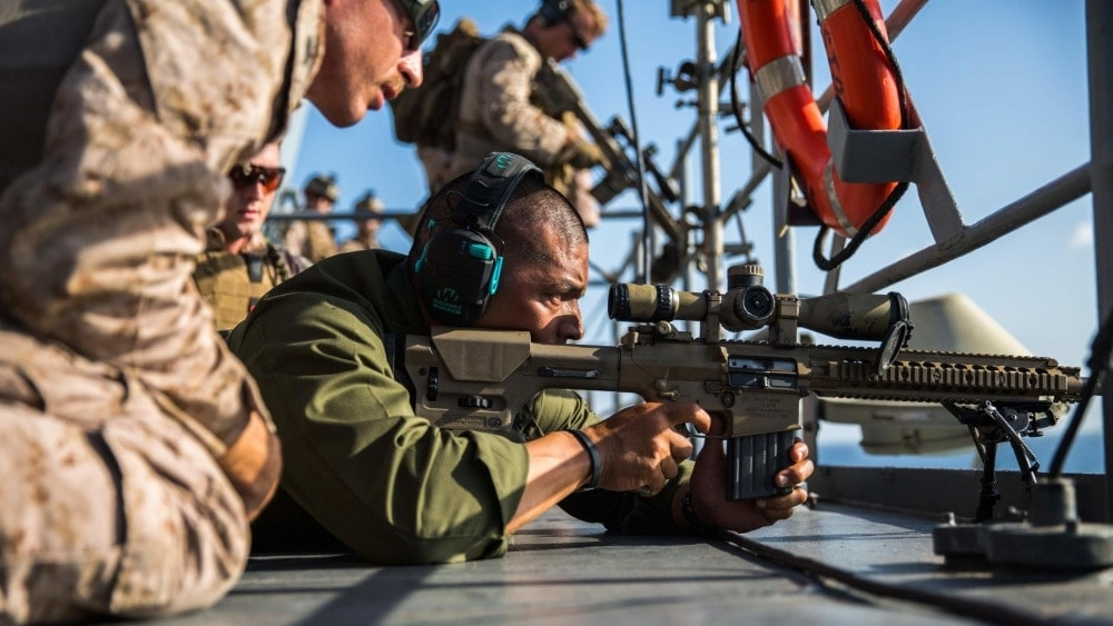 The military already uses a number of 7.62mm rifles such as the M110 Semi-Automatic Sniper System and the legacy M14, but wants to know what else is out there. (Photo: Cpl. Devan K. Gowans/U.S. Marines)