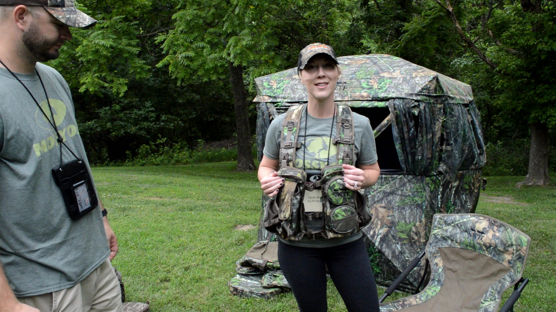 Sarah from Alps Outdoorz shows off the new-for-2017 Long Spur turkey vest. Built for the hunter who prefers to hunt on the move, this is lightweight already at 3lbs, but all its components are modular. The shoulder harness, rear game bag, padded waist belt, and call pockets are all removable allowing hunters to customize their vest. Best of all, the large lumbar pack zips off for those run-and-gun hunters who really want to travel light. (Photo: Kristin Alberts)