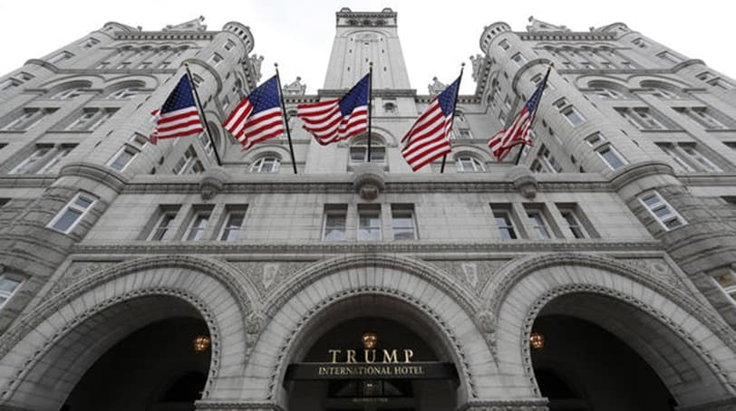 The Trump International Hotel at 1100 Pennsylvania Avenue NW, is seen Wednesday, Dec. 21, 2016 in Washington. (AP Photo/Alex Brandon)