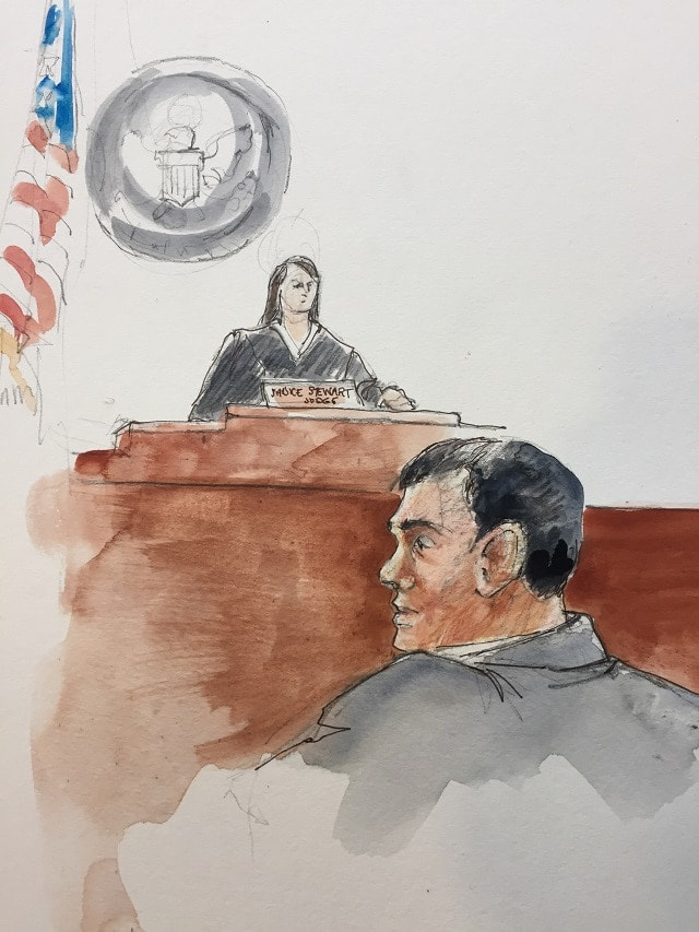 Courtroom art of W. Joseph Astarita appearing in a Portland federal court on June 28, 2017. (Photo: KOIN)