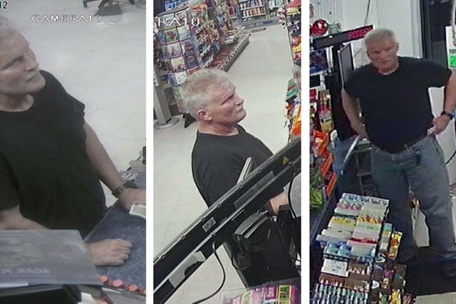 Dollar Store Grandpa Bandit security footage screenshots