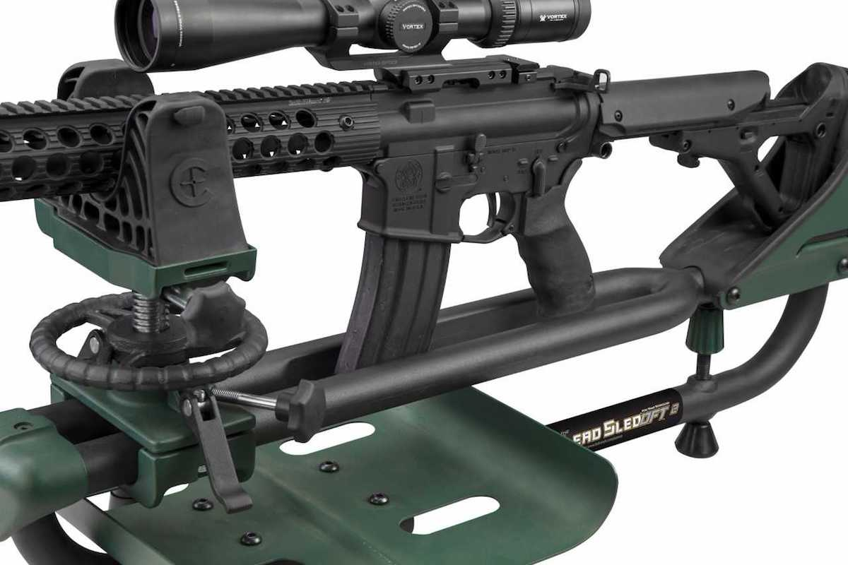 The DFT 2 weighs a hefty 24-pounds, giving shooters stability while slinging lead down range. (Photo: Caldwell)