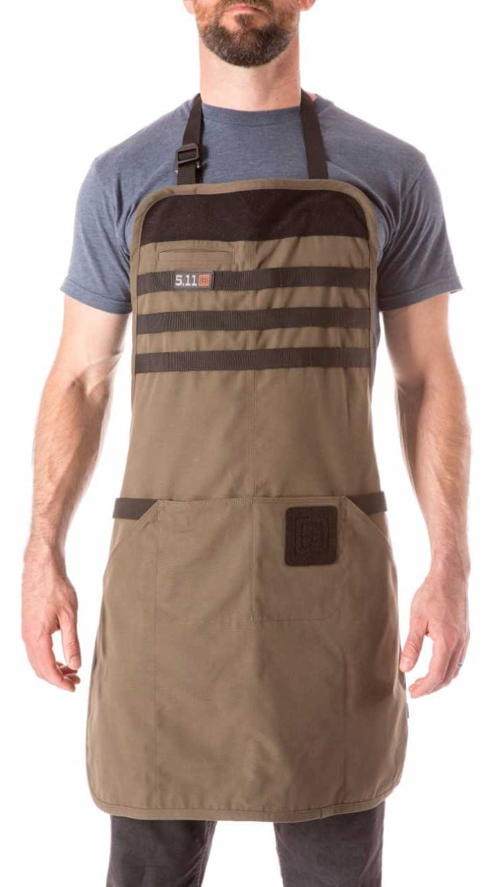 5.11 Tactical's TactiGrill Apron boasts MOLLE attachments and a patch area. (Photo: 5.11 Tactical)
