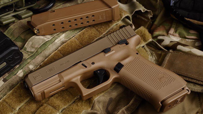 Glock's entry into the selection for the Army's new handgun contract were modified variants of their compact 9mm Glock 19 and .40S&W Glock 23 (Photos: American Rifleman/TFB)