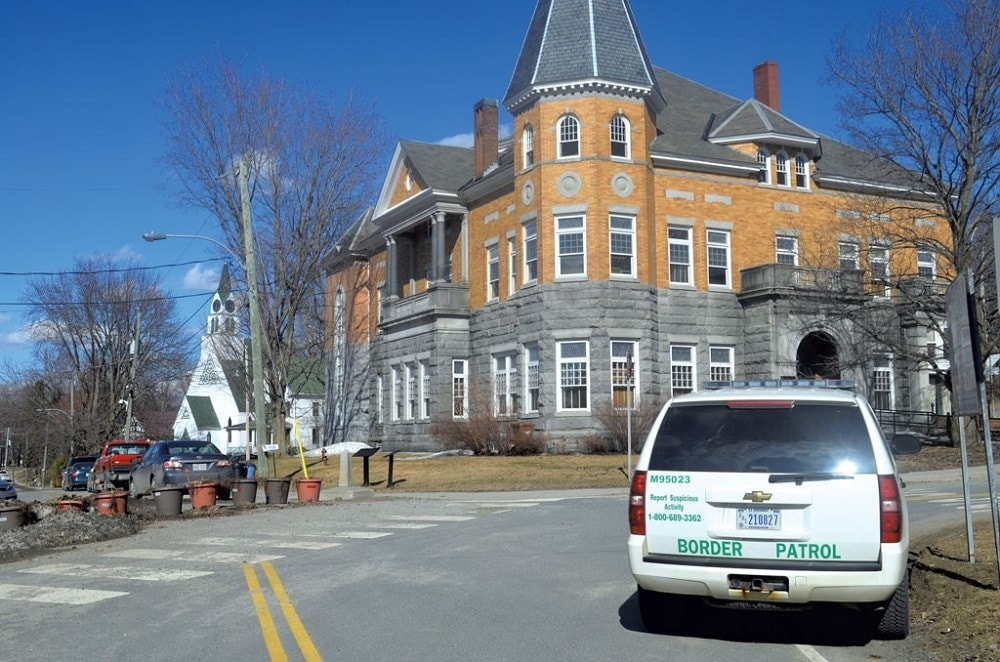 Haskell Free Library and Opera House in Derby Line, Vermont. (Photo: Seven Days/Mark Davis)