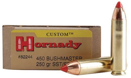 Hornady is one of two major ammunition makers that supply the .450 Bushmaster. (Photo: Hornady)