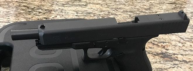 glock 40 barrel view