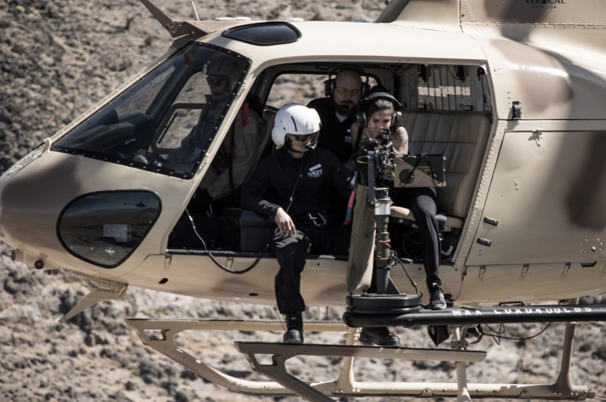Guests can shoot a fixed M249 (SAW) belt fed machine gun from a Eurocopter AS350 B2 A-Star helicopter with new company Machine Gun Helicopters. (Photo: Machine Gun Helicopters)