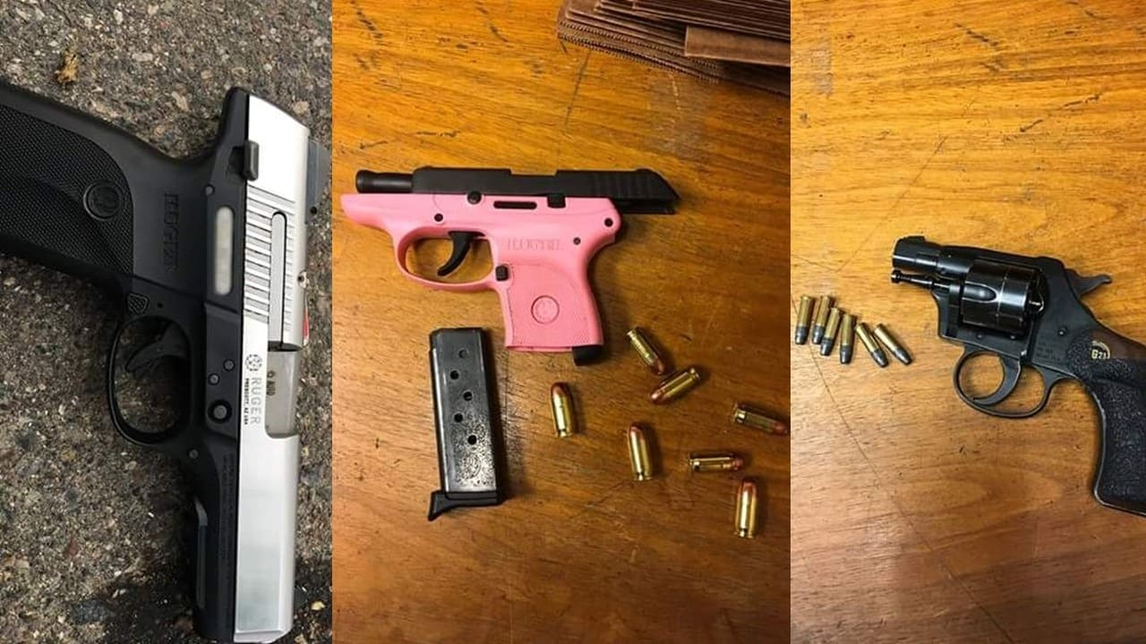 Three of 26 firearms recovered by Minneapolis police from June 6 to June 12. (Photo: Minneapolis Police Department/Facebook)