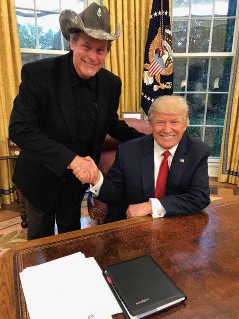Ted Nugent poses with President Donald Trump during an April White House visit. (Photo: Ted Nugent/Facebook)