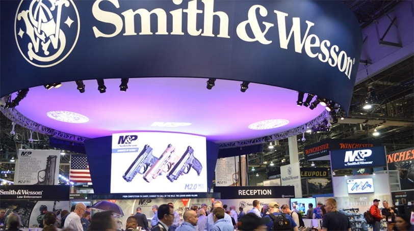 File: Smith & Wesson was one of the busiest booths on the SHOT Show floor, as the company debuted several new and popular handguns. (Photo: Kristin Alberts/Guns.com)