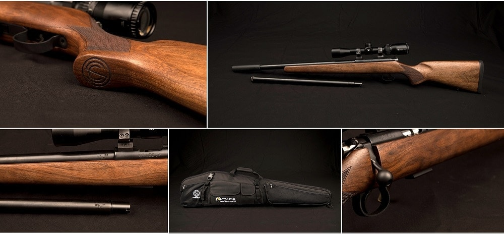 The latest Summit package includes a CZ455 with two barrels as well as a Sparrow can. (Photos: SilencerCo)