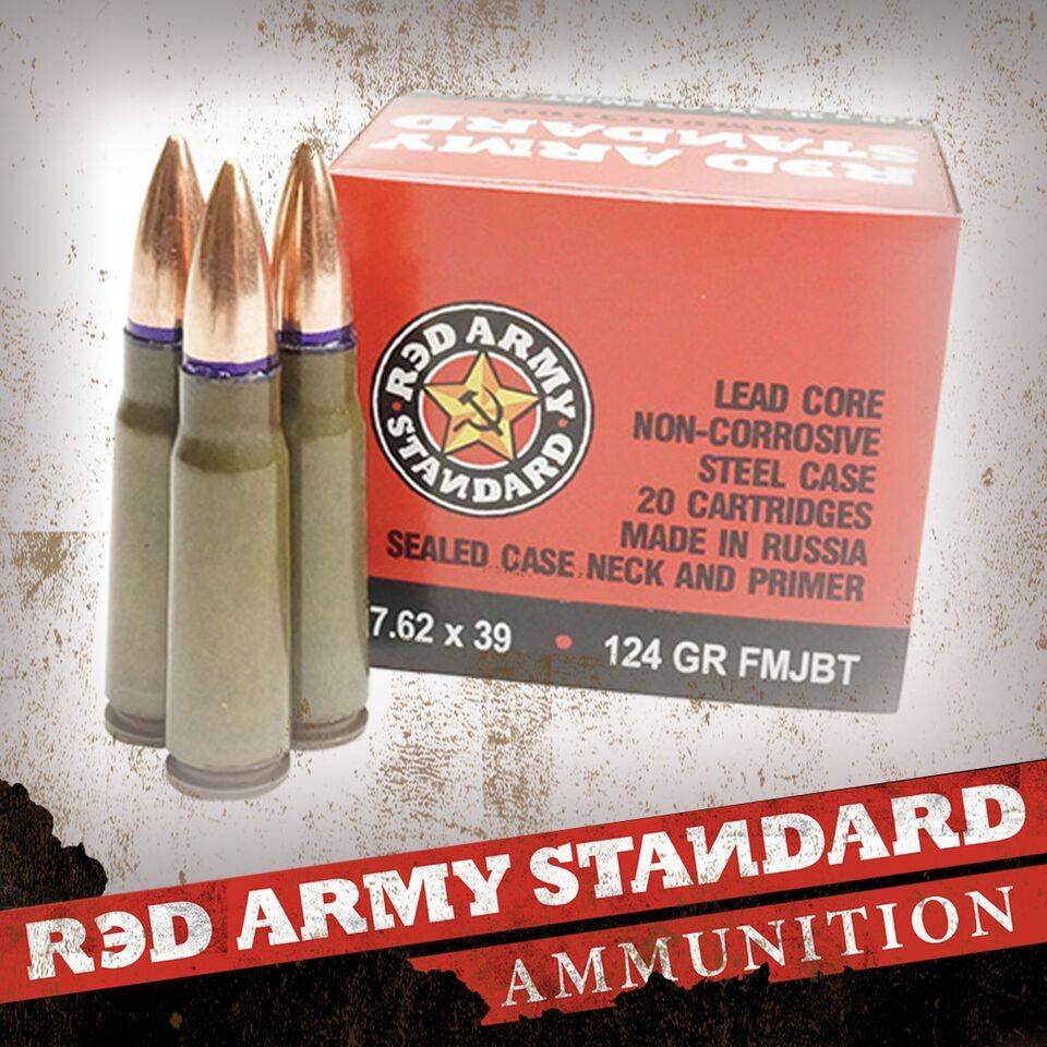 The 7.62x39mm ammo is branded under Red Army Standard. (Photo: Century Arms)