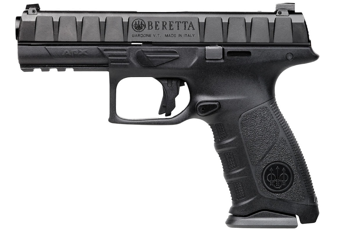 The APX series sees a new addition with the introduction of a .40 S&W model to the polymer pistol series. (Photo: Beretta)