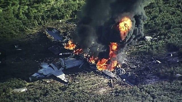 Marine plane crash