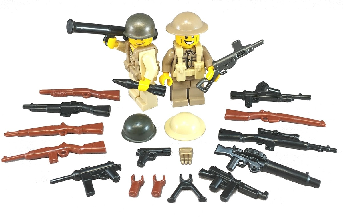 What started with just a handful of weaponry has grown to (Photo: BrickArms)